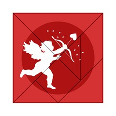 Cupid Bow Love Valentine Angel Acrylic Tangram Puzzle (6  X 6 )