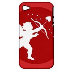 Cupid Bow Love Valentine Angel Apple Iphone 4/4s Hardshell Case (pc+silicone)