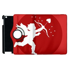 Cupid Bow Love Valentine Angel Apple Ipad 3/4 Flip 360 Case