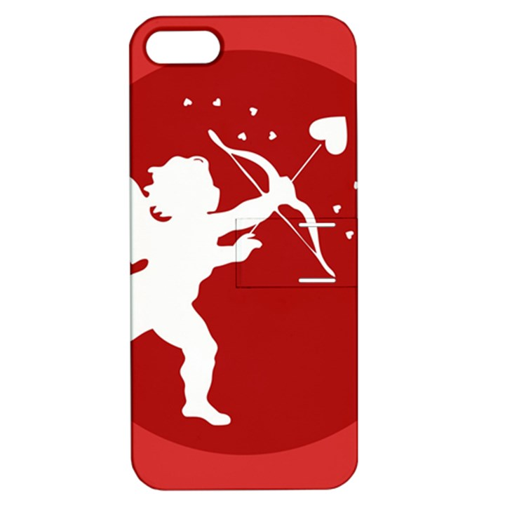 Cupid Bow Love Valentine Angel Apple iPhone 5 Hardshell Case with Stand