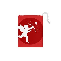 Cupid Bow Love Valentine Angel Drawstring Pouches (xs)