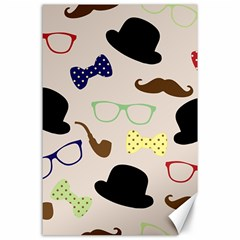 Moustache Hat Bowler Bowler Hat Canvas 24  X 36