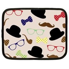 Moustache Hat Bowler Bowler Hat Netbook Case (xl)