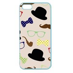 Moustache Hat Bowler Bowler Hat Apple Seamless Iphone 5 Case (color)
