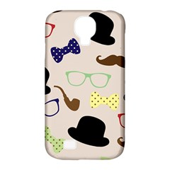 Moustache Hat Bowler Bowler Hat Samsung Galaxy S4 Classic Hardshell Case (pc+silicone)
