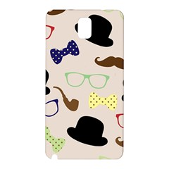 Moustache Hat Bowler Bowler Hat Samsung Galaxy Note 3 N9005 Hardshell Back Case