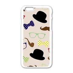 Moustache Hat Bowler Bowler Hat Apple Iphone 6/6s White Enamel Case