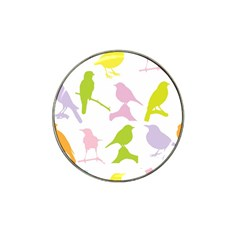 Birds Colourful Background Hat Clip Ball Marker