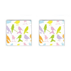 Birds Colourful Background Cufflinks (square)