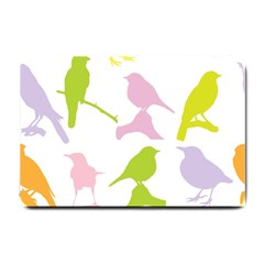 Birds Colourful Background Small Doormat