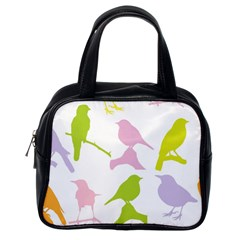 Birds Colourful Background Classic Handbags (one Side)