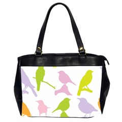 Birds Colourful Background Office Handbags (2 Sides)
