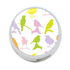 Birds Colourful Background 4 Port Usb Hub (two Sides)