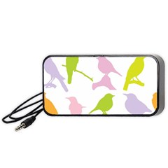 Birds Colourful Background Portable Speaker
