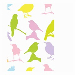 Birds Colourful Background Small Garden Flag (two Sides)