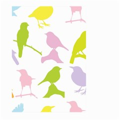 Birds Colourful Background Large Garden Flag (two Sides)