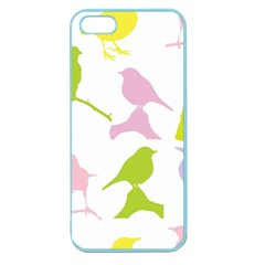 Birds Colourful Background Apple Seamless Iphone 5 Case (color)