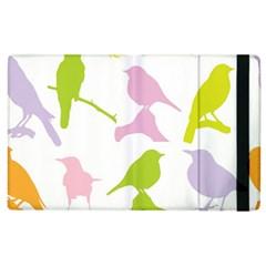 Birds Colourful Background Apple Ipad 2 Flip Case