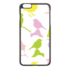 Birds Colourful Background Apple Iphone 6 Plus/6s Plus Black Enamel Case