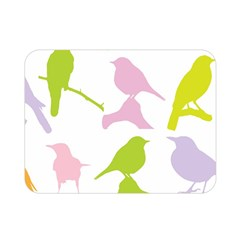 Birds Colourful Background Double Sided Flano Blanket (mini)