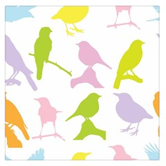 Birds Colourful Background Large Satin Scarf (square)