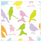 Birds Colourful Background Large Satin Scarf (Square) Front
