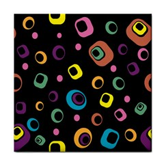 Abstract Background Retro 60s 70s Tile Coasters