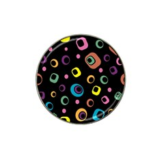 Abstract Background Retro 60s 70s Hat Clip Ball Marker (4 Pack)