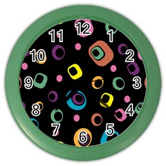 Abstract Background Retro 60s 70s Color Wall Clocks