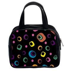 Abstract Background Retro 60s 70s Classic Handbags (2 Sides)