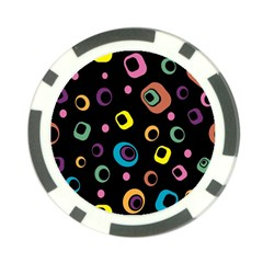 Abstract Background Retro 60s 70s Poker Chip Card Guard (10 Pack)
