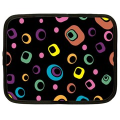 Abstract Background Retro 60s 70s Netbook Case (xl)