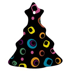 Abstract Background Retro 60s 70s Ornament (christmas Tree)