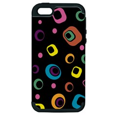 Abstract Background Retro 60s 70s Apple Iphone 5 Hardshell Case (pc+silicone)