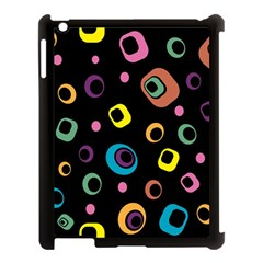 Abstract Background Retro 60s 70s Apple Ipad 3/4 Case (black)