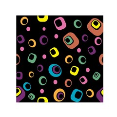 Abstract Background Retro 60s 70s Small Satin Scarf (square)