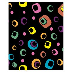 Abstract Background Retro 60s 70s Drawstring Bag (small)