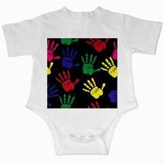 Handprints Hand Print Colourful Infant Creepers