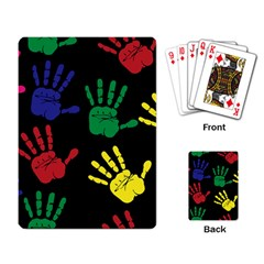 Handprints Hand Print Colourful Playing Card