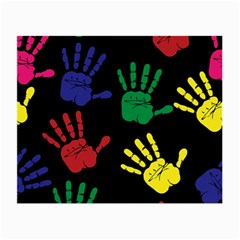 Handprints Hand Print Colourful Small Glasses Cloth (2 Side)
