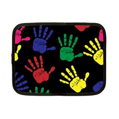 Handprints Hand Print Colourful Netbook Case (small)