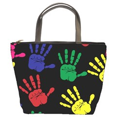 Handprints Hand Print Colourful Bucket Bags