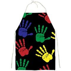 Handprints Hand Print Colourful Full Print Aprons