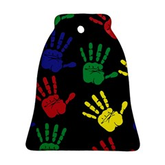 Handprints Hand Print Colourful Ornament (bell)