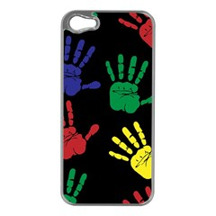Handprints Hand Print Colourful Apple Iphone 5 Case (silver)