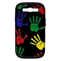 Handprints Hand Print Colourful Samsung Galaxy S Iii Hardshell Case (pc+silicone)