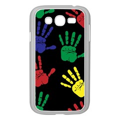 Handprints Hand Print Colourful Samsung Galaxy Grand Duos I9082 Case (white)