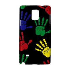 Handprints Hand Print Colourful Samsung Galaxy Note 4 Hardshell Case
