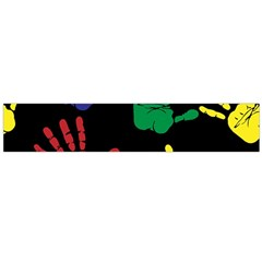 Handprints Hand Print Colourful Large Flano Scarf