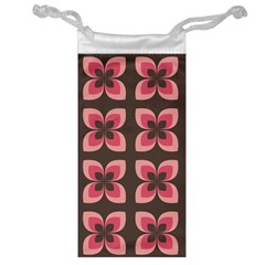Floral Retro Abstract Flowers Jewelry Bag